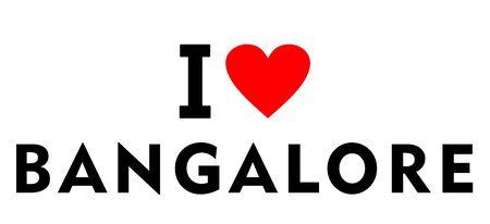 I love Bangalore city India country heart symbol Stock fotó