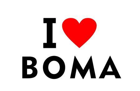 I love Boma city Congo country heart symbol Stock fotó
