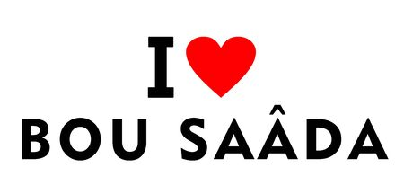 I love Bou Saada city Algeria country heart symbol