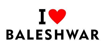 I love Baleshwar city India country heart symbol