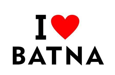 I love Batna city Algeria country heart symbol