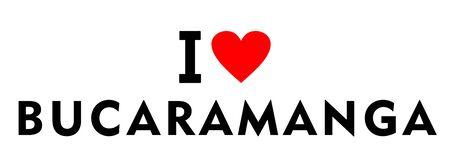 I love Bucaramanga city Colombia country heart symbol