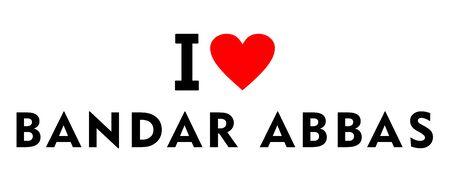 I love Bandar Abbas city Iran country heart symbol Stock fotó