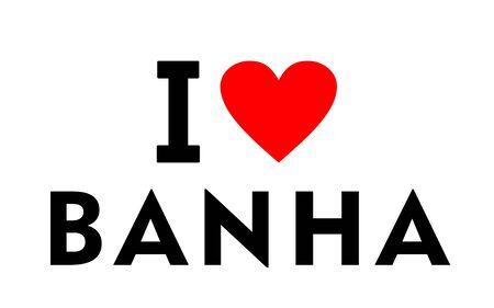 I love Banha city Egypt country heart symbol