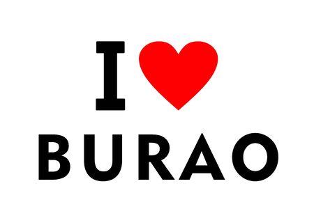 I love Burao city Somalia country heart symbol
