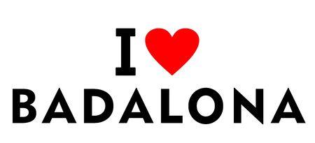I love Badalona city Spain country heart symbol