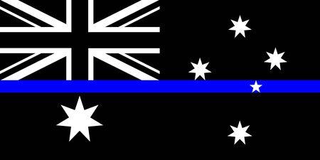 australia thin blue line black flag symbol