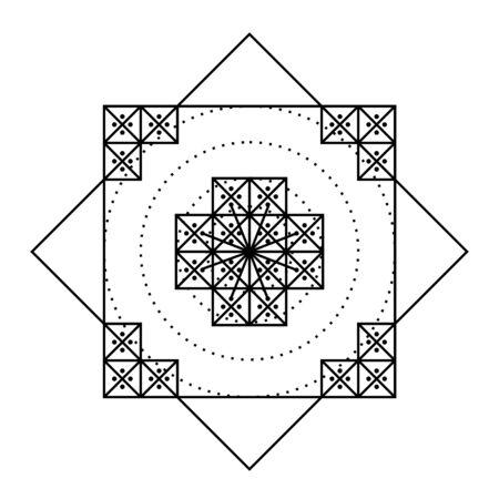 Nazca Peru mandala ancient geoglyph symbol Banque d'images
