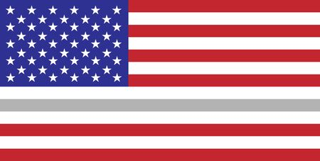 Thin silver line flag Correctional Officers symbol Фото со стока