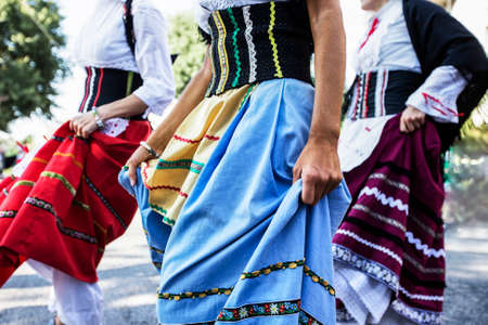 skirts: women dancing with long skirts and colorful