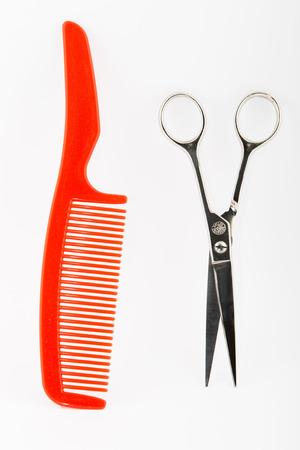 comb: scissors and comb