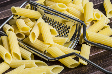 grater: pasta on grater