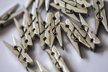 clothespins: silver clothespins