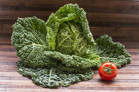 savoy: savoy cabbage with tomato Stock Photo