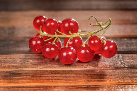 frescura: raw and freshness currant on a wooden background