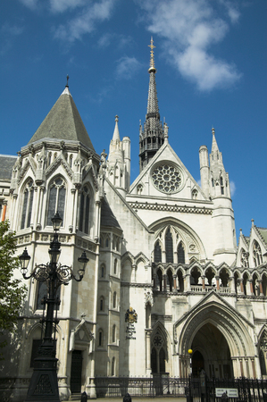 neo gothic: Royal Courts Of Justice Stock Photo