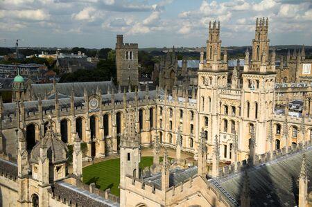 oxford: , All Soul's College, Oxford University Stock Photo