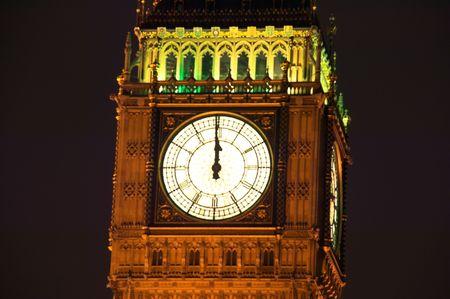 neo gothic: Big Ben at Midnight