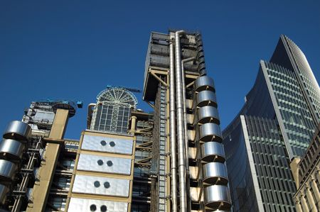 lloyds london: Lloyds Building, london Stock Photo