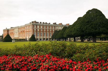 the monarchy: Hampton Court Palace Stock Photo