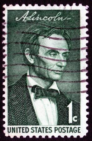 Vintage Abraham Lincoln USA 1c postage stamp