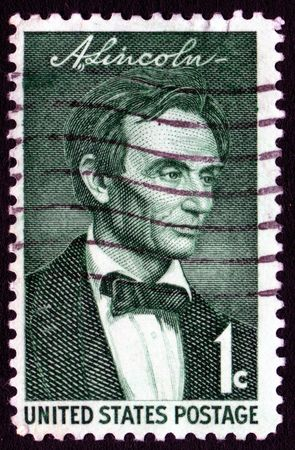 Vintage Abraham Lincoln USA 1c postage stamp  Stock Photo - 1980039