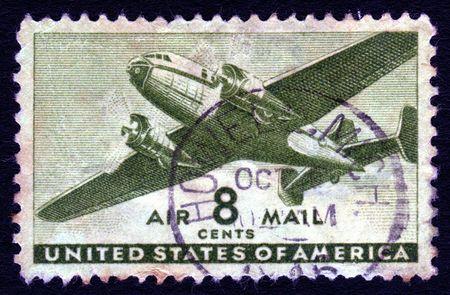 sello postal: Vintage EE.UU. correo a�reo 8 centavos sello de correos