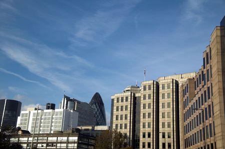 finacial: London Finacial District Cityscape Stock Photo