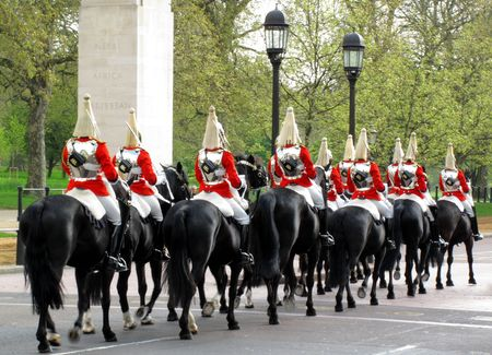 Preparing to change the guards at Buckingham Palace