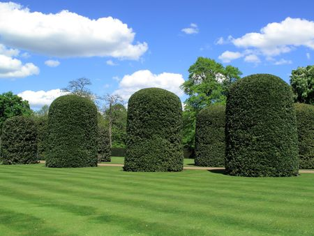 maintained: Its formal gardens with its topiary are well maintained.