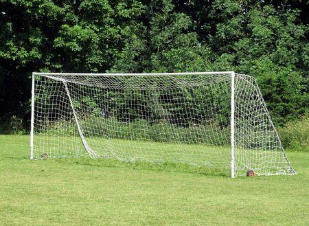 goalpost: Goalpost on an amateur football pitch