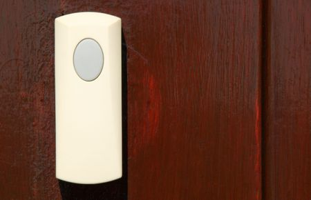 old fashioned: Old fashioned plastic doorbell  Stock Photo