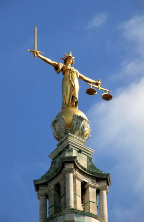 Scales Of Justice (Lady Of Justice) Stock Photo