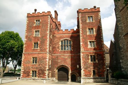 gatehouse: Mortons Tower built in 1495 is the gatehouse to Lambeth Palace in London, which has been the official residence of the Archbishop of Canterbury since 1200