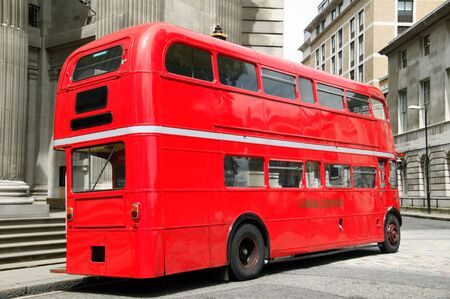 London red double decker bus photo
