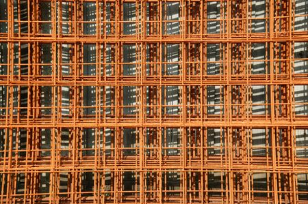 Unused rusted reinforcing construction material Stock Photo - 5347505