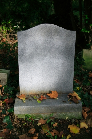 headstone: Blank tombstone in an old cemetery