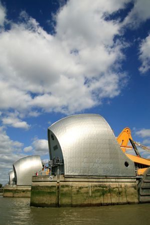 the flood tide: The Thames Barrier built between 1974-82 is the worlds second largest flood control barrier