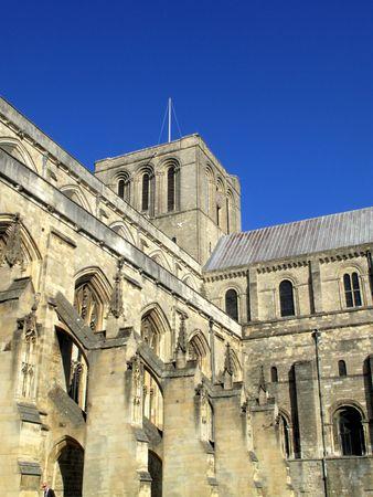 winchester: Winchester Cathedral a Winchester � stata originariamente fondata nel 642 ed � uno dei pi� grandi cattedrali in Inghilterra ed � sede del vescovo di Winchester. Archivio Fotografico