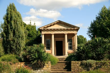 show garden: King Williams Temple in Kew Gardens was designed by Sir Jeffry Wyatville in 1837 for King William 1V Stock Photo