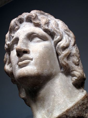 bc: Alexander the Great 356-323 BC born in Pela the capital of Macedon was the son of Phillip 11, the king of Macedon.  Stock Photo