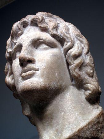 statue grecque: Alexandre le grand 356-323 BC Pela originaire de la capitale de la Mac�doine �tait le fils de Phillip 11, le roi de Mac�doine.  Banque d'images