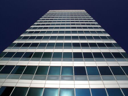 Office skyscraper in Canary Wharf in Londons Docklands photo