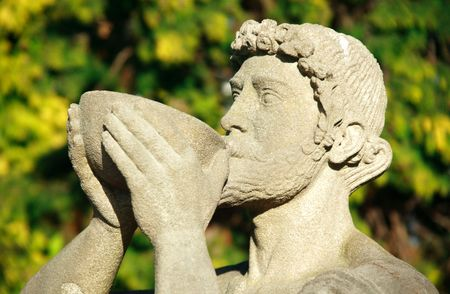 bacchus: Statue of Bacchus the Roman god of agriculture and wine, similar to the Greek Dionysus
