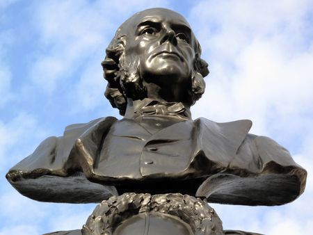 quaker: Statue of Joseph Lister 1827-1912 an English surgeon who is regarded as the father of antiseptic surgery.  Stock Photo