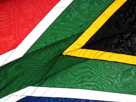 republics: National flag of the Republics of South Africa background close up