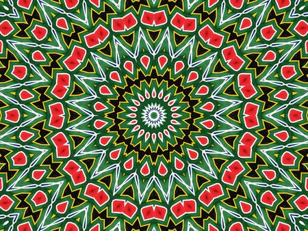 Kaleidoscope seamless background pattern of the colours of the flag of South Africa Stock Photo - 7082065