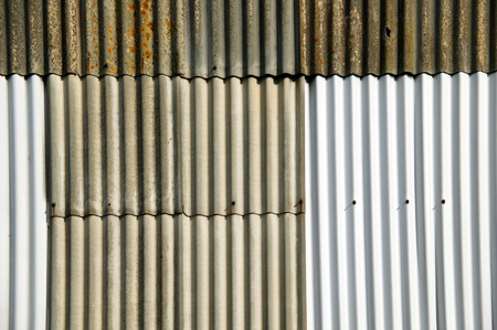 Distressed old rusty corrugated iron fence background Stock Photo - 8689126