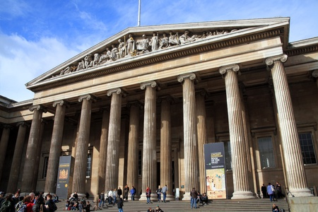 London, United Kingdom, Feb 27, 2011 : Tourists visiting the Ancient Egyptian Book of the Dead exhibition at the British Museum