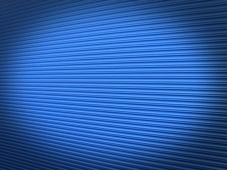 blue painted galvanised steel warehouse roller shutter background with an abstract diminishing perspective and an added shadow vignette Stock Photo - 9405838